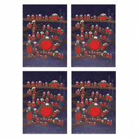 Robins Card A5 Pack of 4