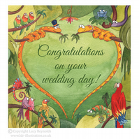 Jungle Wedding Card