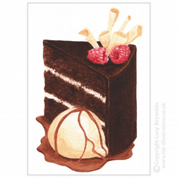 Chocolate Cake Card