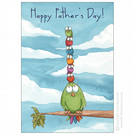 Bird Tower Father's Day Card