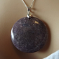 Kunzite Jasper Pale Purple Circle Pendant (42)