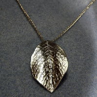 Rose Leaf Charm Necklace in Silver Plate (41)