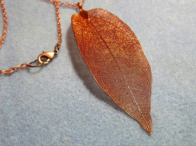 Real Dipped Leaf - Copper Laurel Leaf