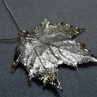 Leaf Jewellery Silver Dipped Maple Leaf Pendant