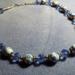 Blue and White Porcelain Plum Blossom Beaded Necklace