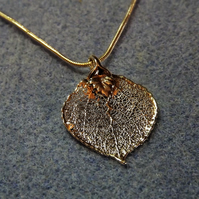 Leaf Jewellery Silver Dipped Aspen Leaf Pendant