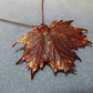 Leaf Jewellery Copper Dipped Maple Leaf Pendant