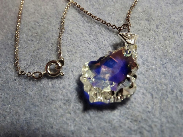 Swarovski Crystal AB 22mm Baroque Pendant Small (Style 15)