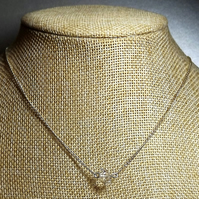 "Herkimar Diamond Quartz Choker. 16"" Necklace. (np)"