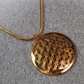 Geometric Circle Flower of Life Symbol. 22k Gold plated Necklace (Style NP)