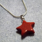 Goldstone Star Shaped Gemstone Pendant. Brown Glass Pendant (Style 36NP)