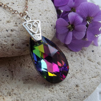 Swarovski Rainbow (Volcano) 22mm Almond Shaped Pendant (style 11)