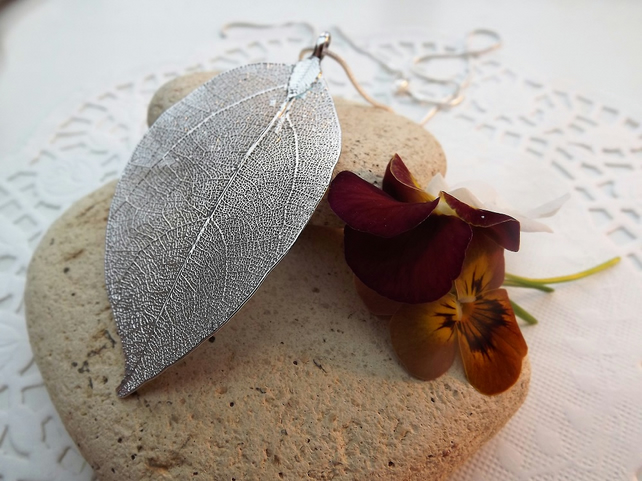 Real Leaf Jewellery - Laurel Leaf in Silver