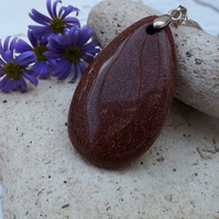 Tear-drop Goldstone Pendant (37)