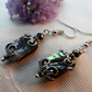 Silver Tone Abalone Earrings