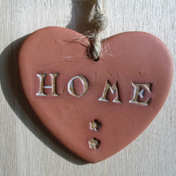Terracotta Home Heart Hanging