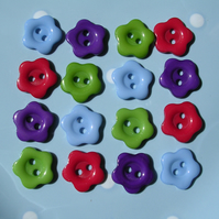 16 Colourful Flower Buttons