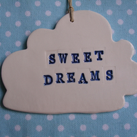 Sweet Dreams Ceramic Cloud Decoration