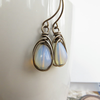 Sterling Silver and Opalite Earrings