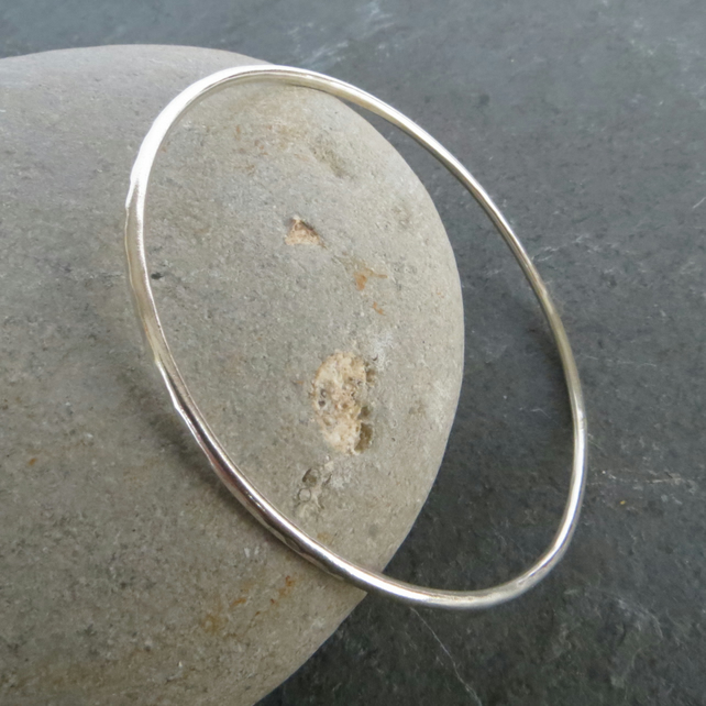 Sterling silver skinny bangle, all sizes made to order