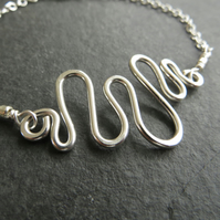 Sterling Silver Wire Wave Bracelet