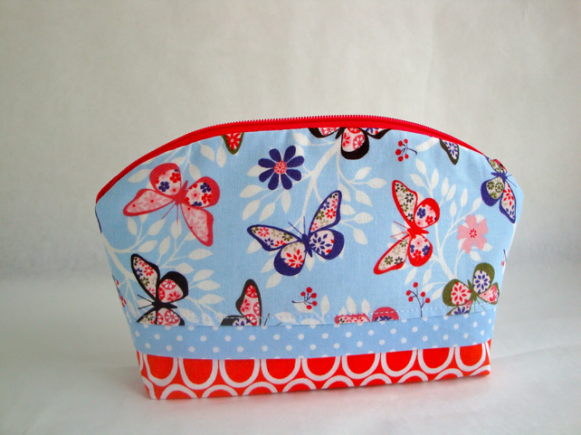Cotton Make Up Bag - butterflies
