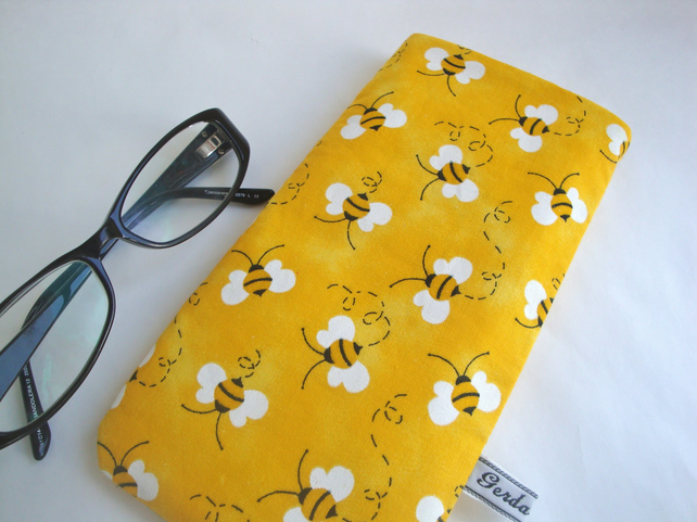 Cotton Glasses Case - Bee Glasses case