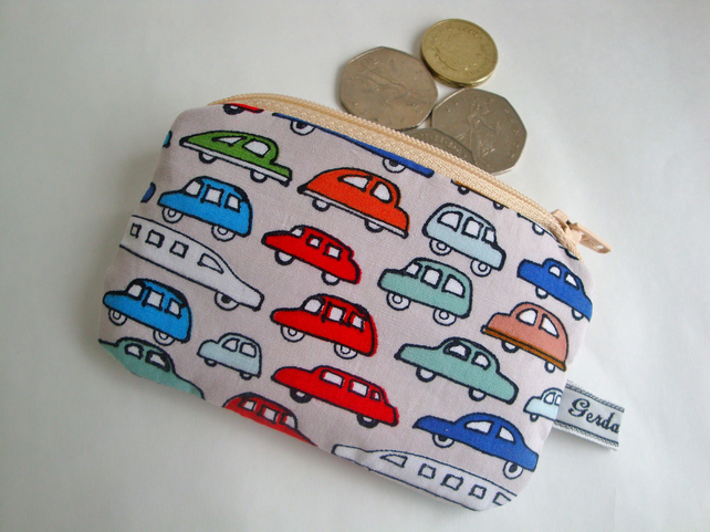 Cotton Kids Coin Purse - Car Purse