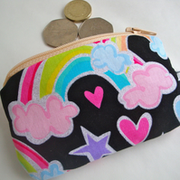 Cotton Rainbow Coin Purse - Kids Coin Purse