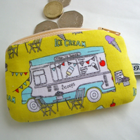 Kids Cotton  Coin Purse - Ice cream Van