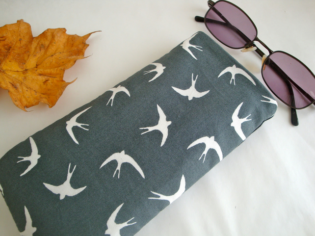 SALE Cotton Glasses case - Swallows Glasses case