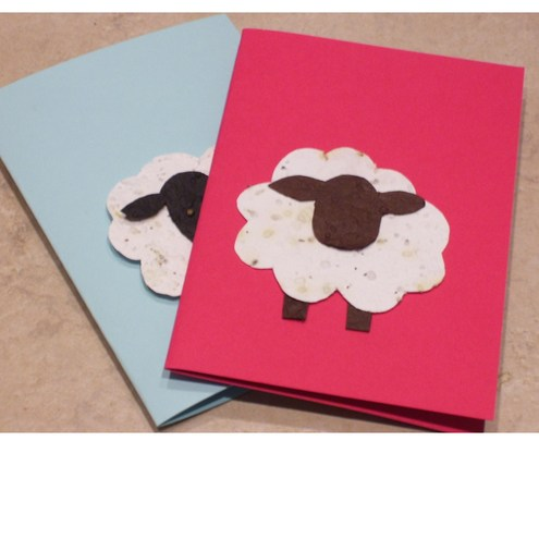 Plantable card- seeded paper grows into wildflowers- eco friendly, upcycled- pick your own message