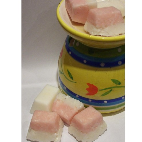 Scented wax melts- 'Coconut Ice' fragranced with Coconut/ Chocolate ...