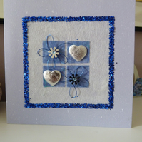 Blue Hearts and More Hearts Card