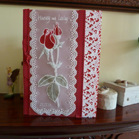 Very Special Ruby Wedding Anniversary Parchment Card