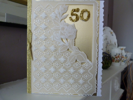 Very Special Parchment Golden Wedding Anniversary Card