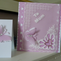 Parchment Heart Mothers Day card and gift tag
