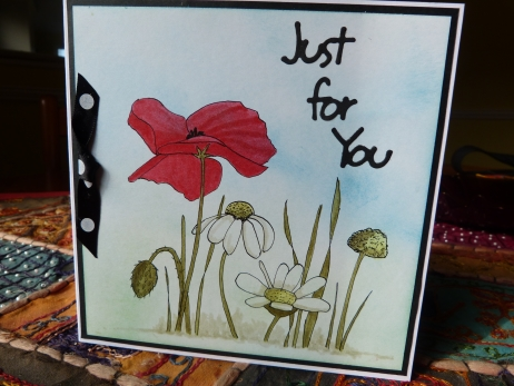 Poppy and Daisy Card