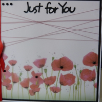 Row of Poppies Vellum Birthday Card