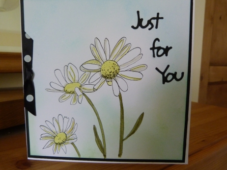 Just For You Daisy Birthday Card