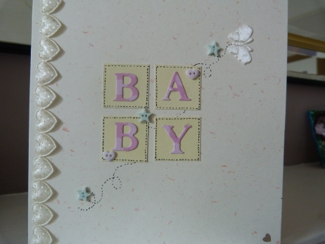 Baby Girl Heart Card