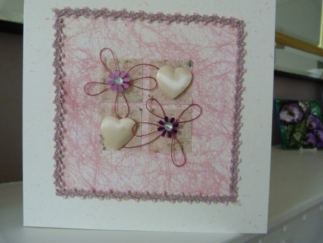Pink Hearts and More Hearts Card