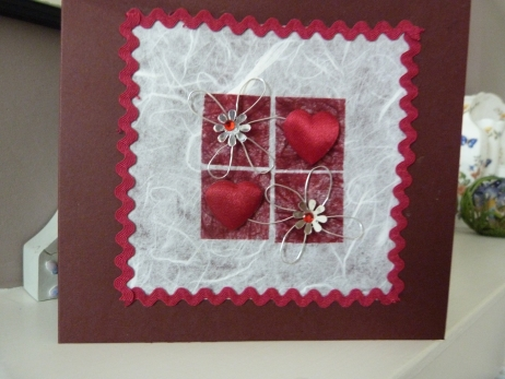 Red Hearts and more Hearts Card