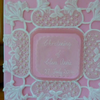 Personalised Christening Parchment Card