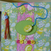 Funky Balloon Birthday Card