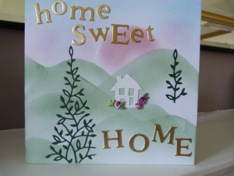 White House Home Sweet Home New Home Card