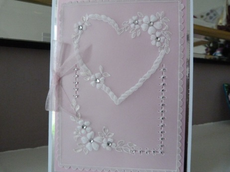 Heart with a Plait Romantic Parchment Card
