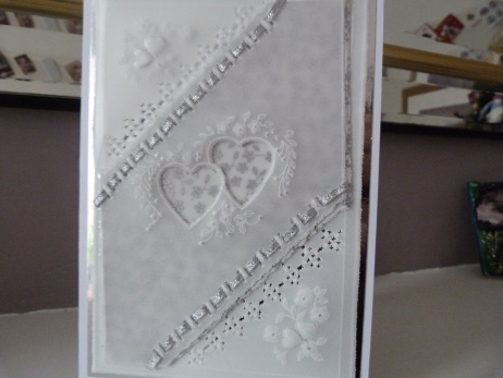 Interlocked Hearts Romantic Parchment Card