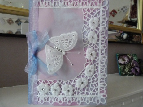 Very Special Butterfly and Lace Parchment Card