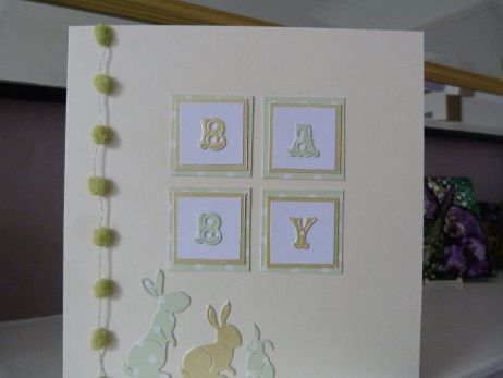 Unisex New Baby Rabbit Card